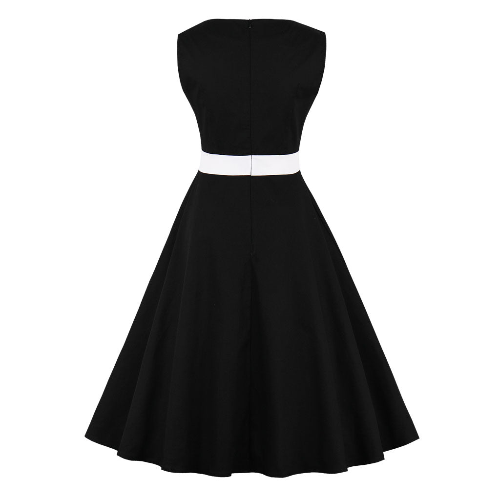 Summer Rockabilly Defind Waist Swing Dress