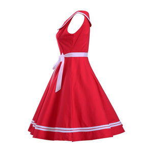 Double Layer Sundress with Ribbon Belt