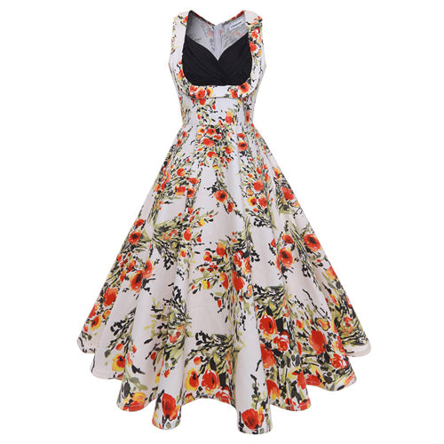 Vintage Pin-up V-neck Rockabilly Dress