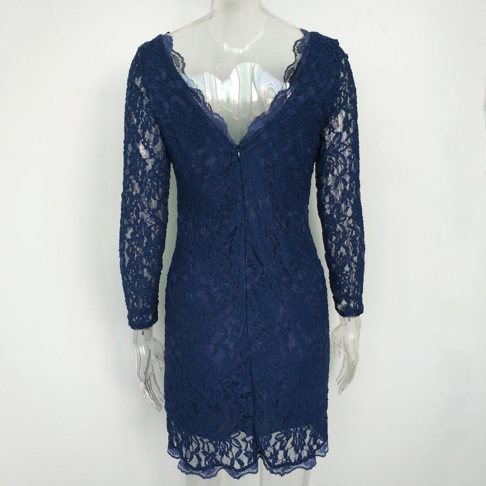 Elegant Vintage Lace Bodycon Dress