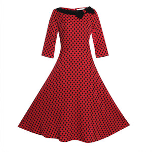 Rockabilly Retro Red Dot Dress