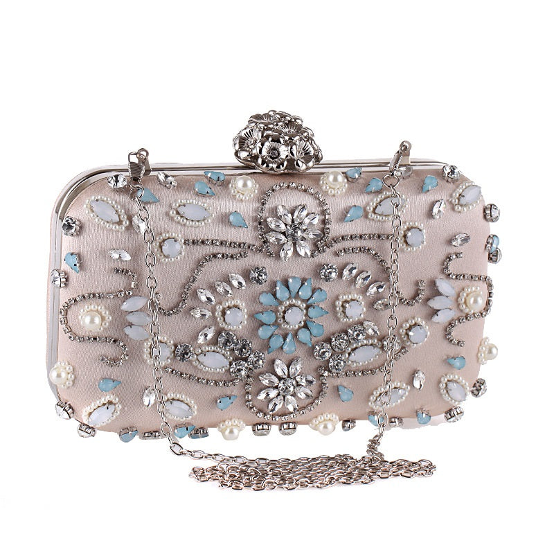 Punk Floral Embossed Clutch Bag