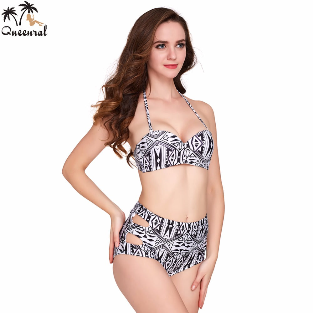 Aztec Print Rockabilly Vintage Swimsuit