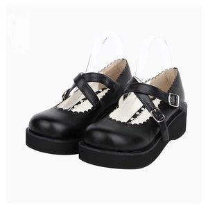 Classical Black Platform Princess Shoes