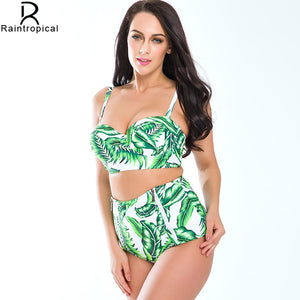 Plus Size High Waist Swimsuit