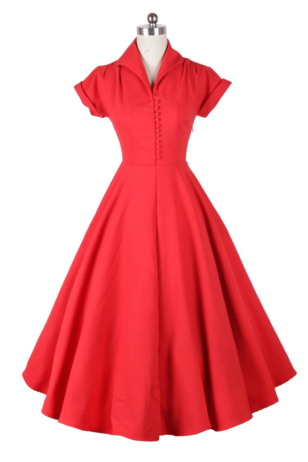 1940s Long Prom High Waist Audrey Hepburn Swing Dress