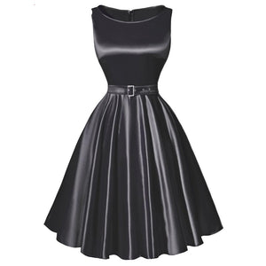 1960s Sleeveless Vintage Rockabilly Dress with Belt