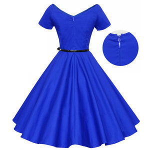 1950s Ball Gown Rockabilly Retro Dress