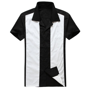 Mens's Rockabilly Retro Vintage Style 50s Style Shirt