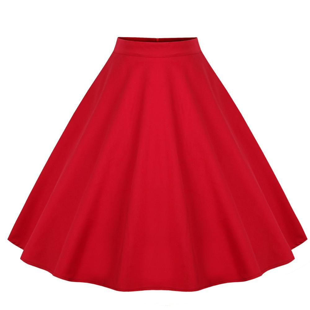 High Waist Rockabilly Vintage Skirt