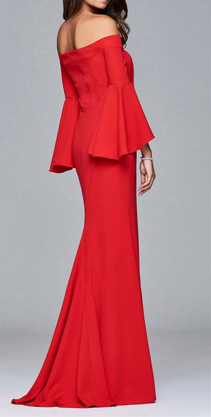 Sexy High Slit Low Back Party Gown