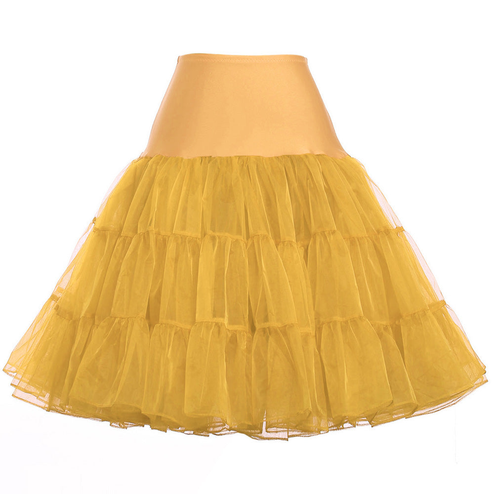 Colorful Ruffled Rockabilly Skirts