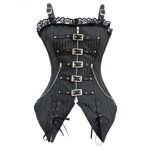 Sisjuly 2017 vintage corsets women lace up black corsets striped sexy retro bustiers red female vintage lace corsets new design