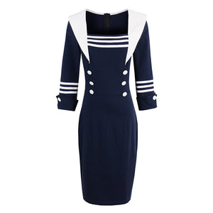 Sisjuly Women Summer Dark Blue Dress Female Spring Solid Dresses Long Sleeve Sheath Dresses Bodycon Female Girls Strapless Dress