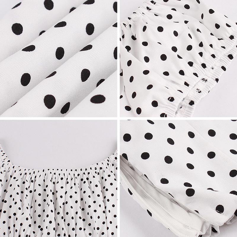 Polka Dots Puff Sleeve Top