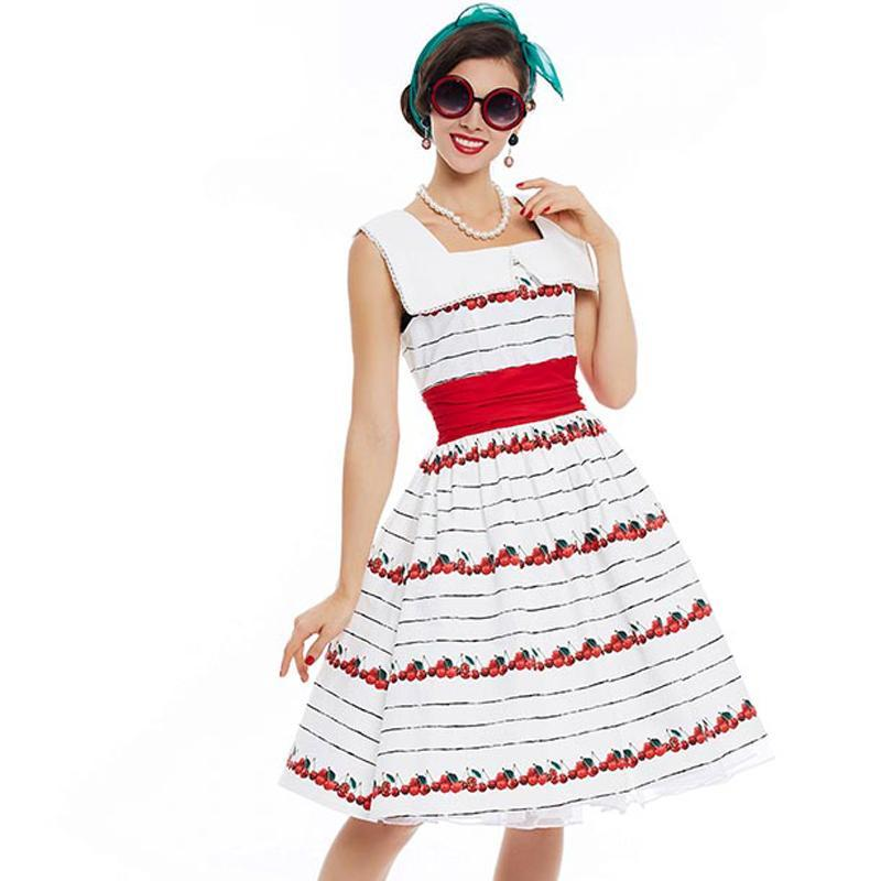 1950s Vintage Style Pin Up Rockabilly Summer Dress