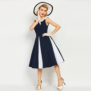 f98be3ece884 Vintage Nautical Style Retro Dress