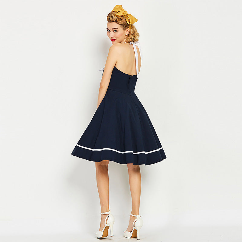 Womens Vintage Nautical Style Vintage Style Pin Up Dress
