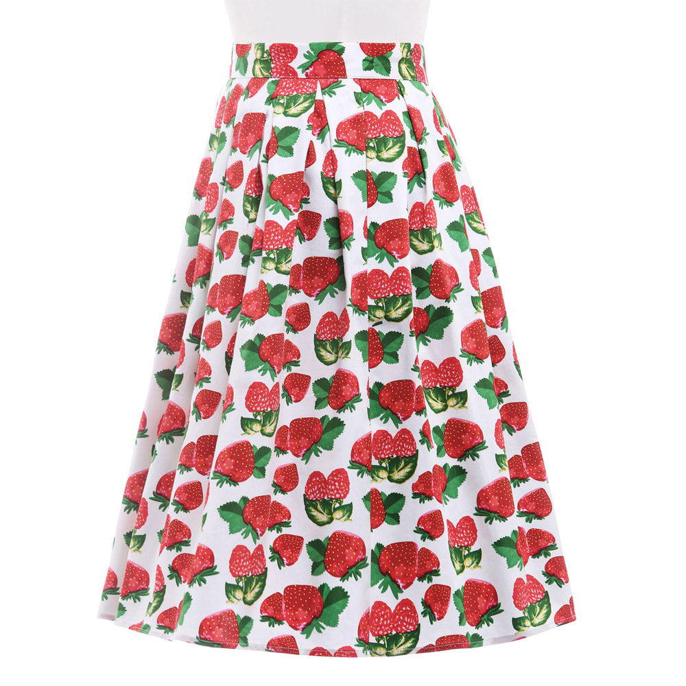 Floral Print Pleated Retro Vintage Skirts