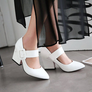Japanned Leather High-Heeled Pump