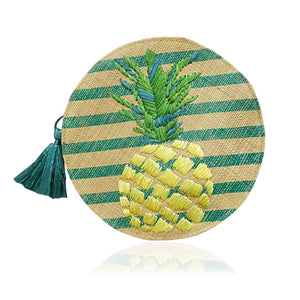 Striped Women's Pineapple Purse Handbag