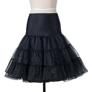 Womens Princess Retro Rockabilly Elastic Tulle Petticoat