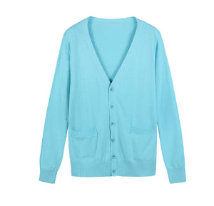 Basic Female V-neck Cardigans Sweaters