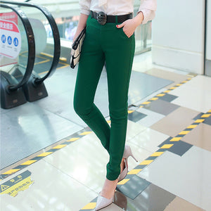 Ladies Pencil Pants Casual Trousers