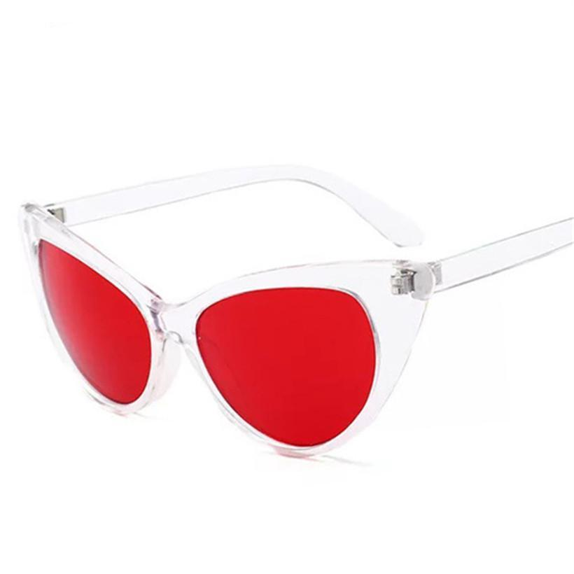 Clear Frame Transparent Vintage Sun Glasses