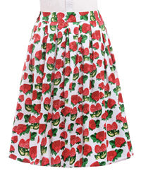 1950s Vintage Pleated High Waist Skirt