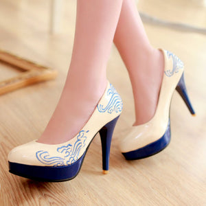 Vintage Concise Pumps High Heels
