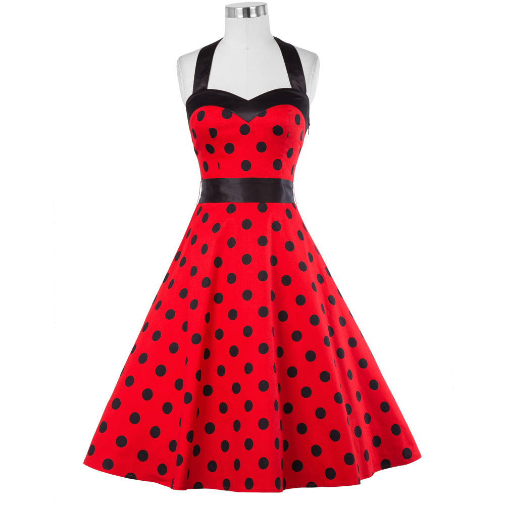 Rockabilly Halter Swing Dress