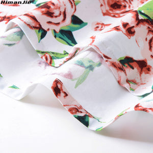 Vintage Retro Floral Print Swing Skirt