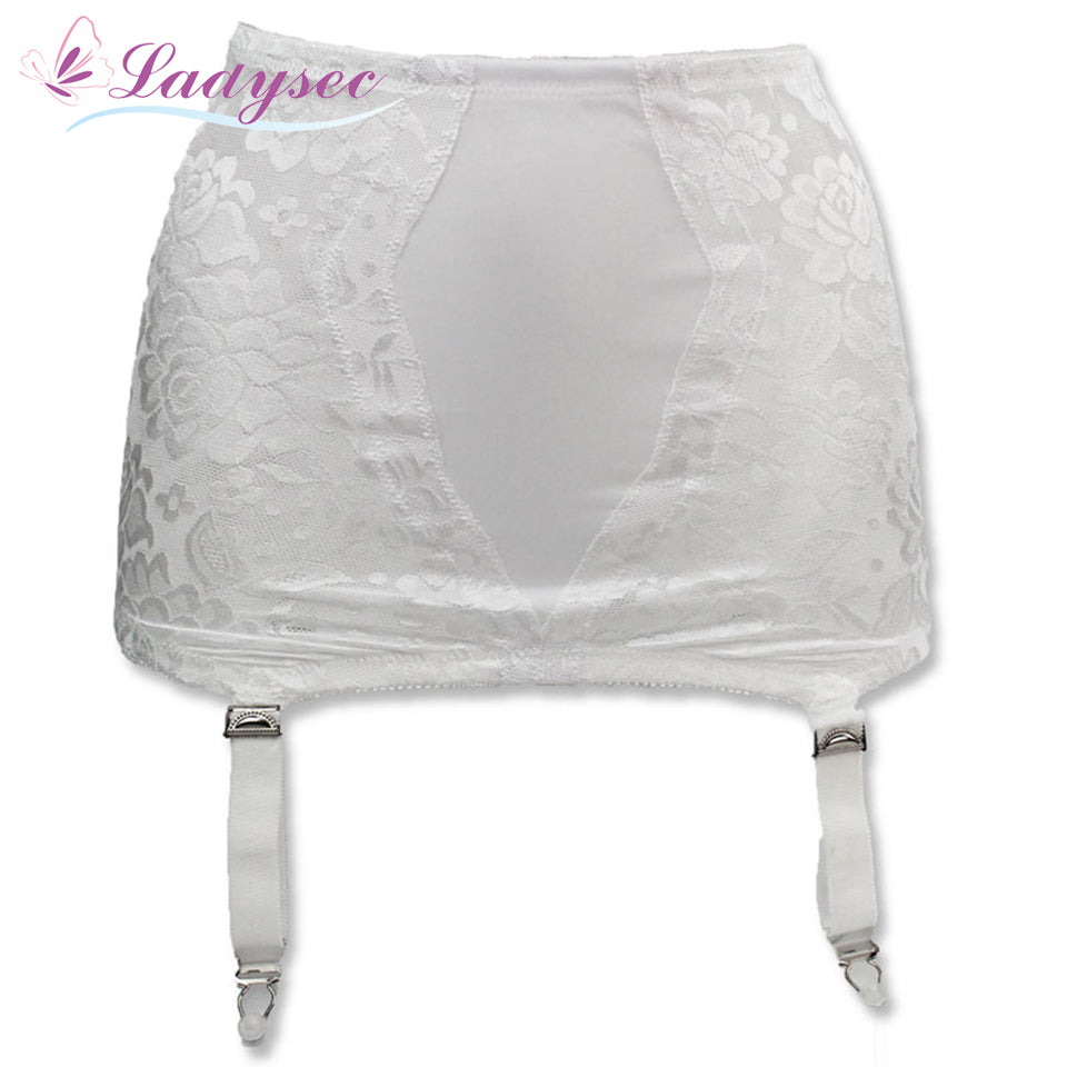 Classic White Lace Garter Belt for Stocking