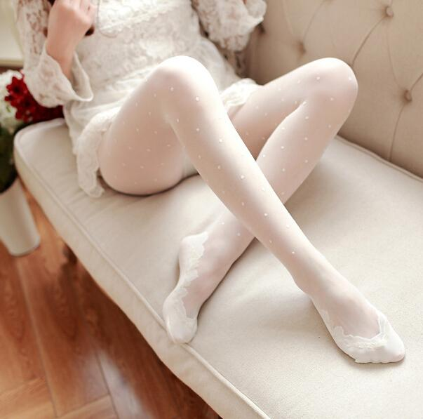 Jacquard Lace Thin Silk Stockings