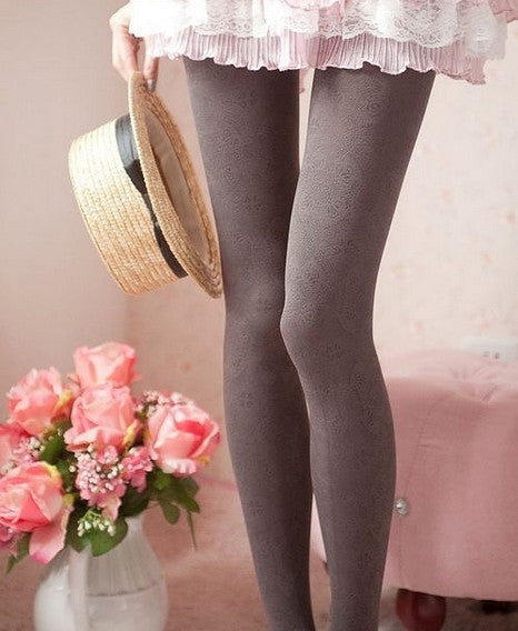 Vintage Pattern Tights Stockings