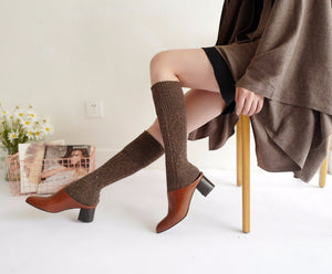 Knitted Vintage Knee High Socks