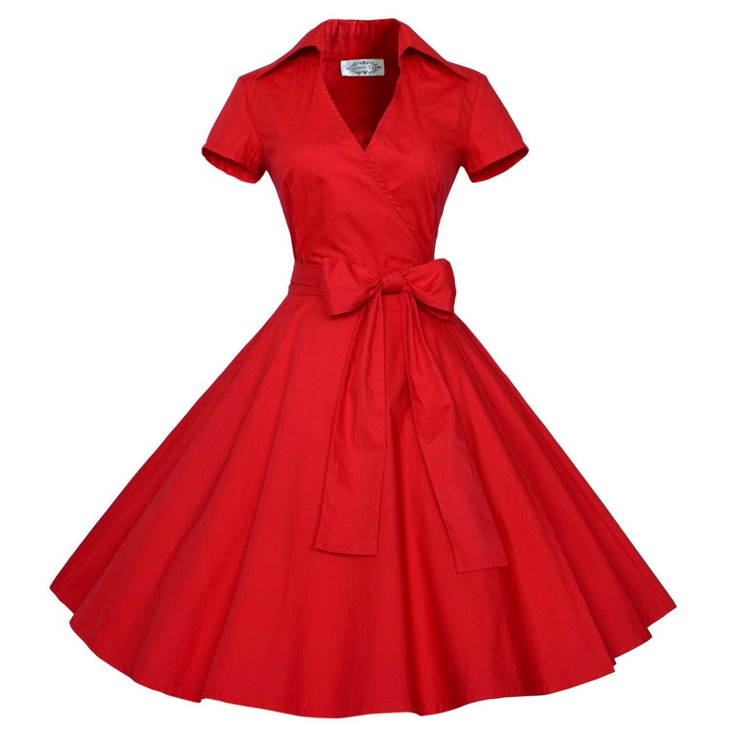 1960s Audrey Hepburn Style Rockabilly Ball Gown with Bow