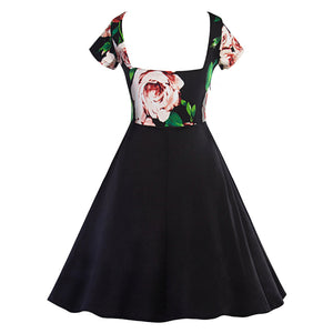 1950s Vintage Dress A-Line Retro Robe Pin Up Swing Dresses