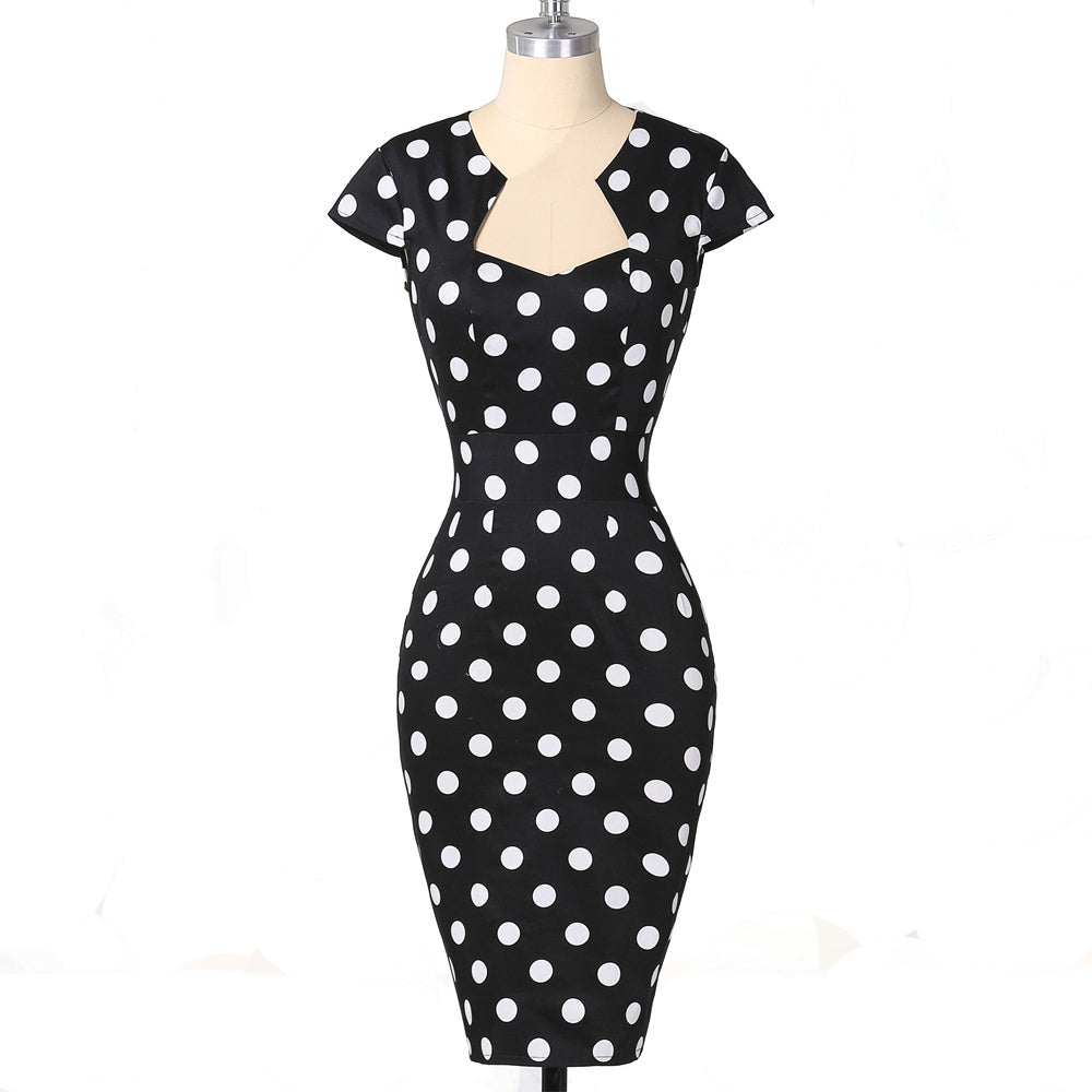 c1e97e2fcc65 Womens Pencilled Dream Vintage Rockabilly Bodycon Pencil Dress