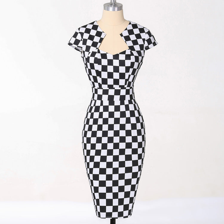 Polka Dot Vintage Pencil Dress