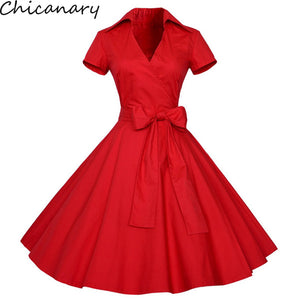 V-neck Bow Swing Ball Gown