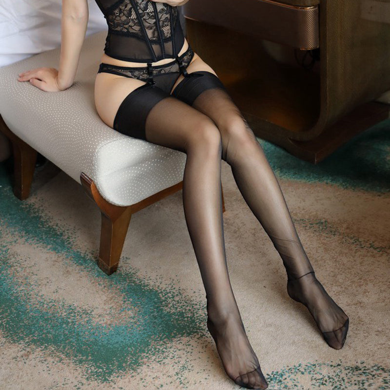 Retro Thigh High Stockings