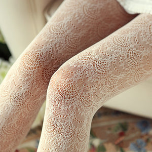 Japanese Lace Pantyhose Fishnet Stockings