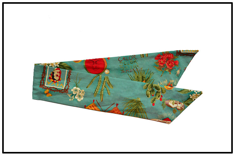 Women Vintage 50s Frida Kahlo Rockabilly Pin Up Hair Accessories Bandana Bandeau Cheveux Scarf Foulard Femmes Mujer