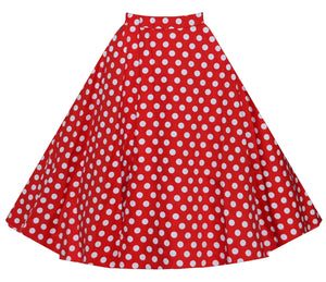 Vintage Retro High Waist Flared Rockabilly Casual Skirt