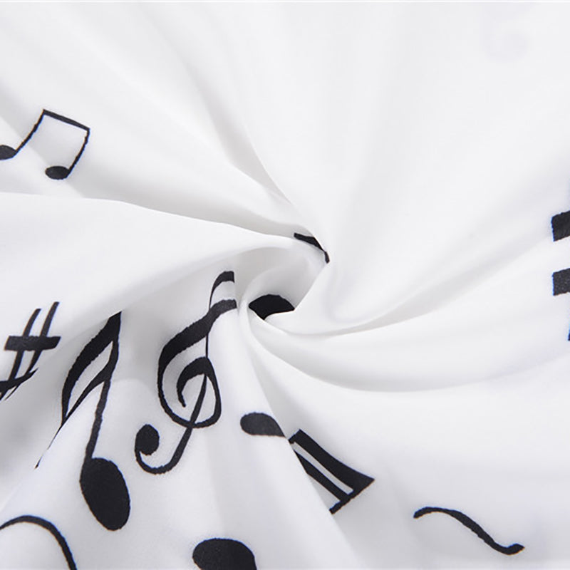 926563b3ae5 Womens Dancing Music Notes Swing Dress Audrey Hepburn A-Line O-Neck Dress  with