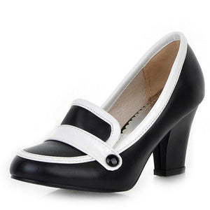 Vintage Casual Round Toe High Heels