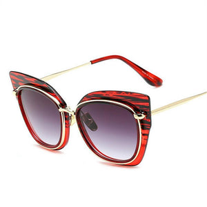 Clear Lens Oversized Cat Eye Sunglasses