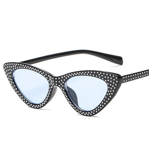 Luxury Rhinestone Small Sexy Cat Eye Sunglasses
